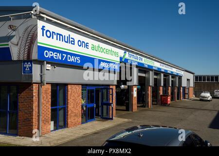 Formula One Autocentres building in Crewe UK - Stock Image