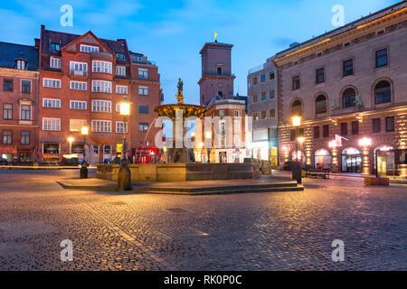 Gammeltorv or Old Market, Copenhagen, Denmark - Stock Image