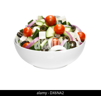 A bowl of Greek salad. - Stock Image