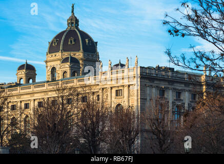 The Kunsthistorisches Museum is an art museum in Vienna, Austria. Housed in its festive palatial building on Ringstraße. - Stock Image