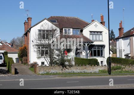Semi detached houses in suburban Sheffield England UK - Stock Image