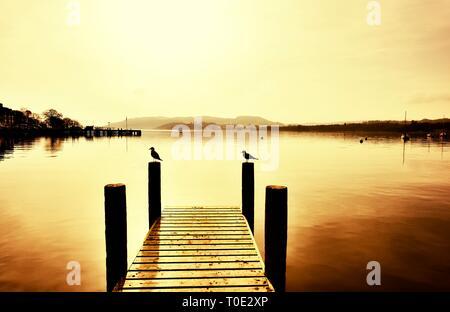 Waterhead,Ambleside,Lake Windermere,Lake District,Cumbria,England,UK - Stock Image