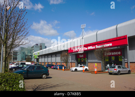 Staples the office superstore shop in Ipswich, Suffolk England. - Stock Image