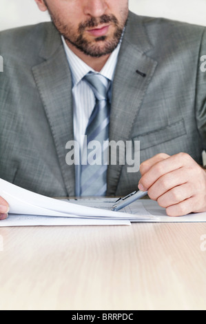 Businessmen at the meeting - Stock Image