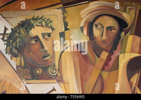 Julius Caesar Contemporary Artwork - Stock Image