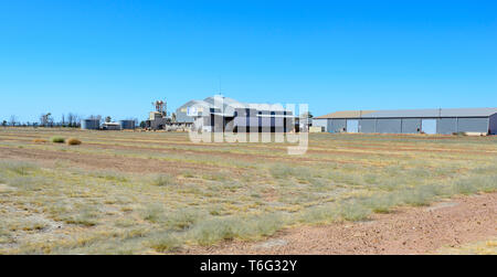 Queensland Cotton Farm near Dalby, South West Queensland, QLD, Australia - Stock Image