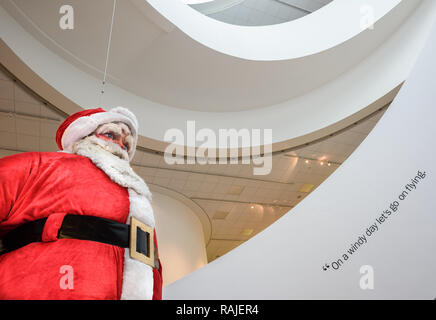 A giant Santa that used to be displayed in Blacklers department store (1957-1988) in Liverpool. It is now displayed in the museum of Liverpool, Engla - Stock Image