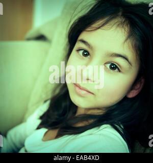 Enigmatic girl - Stock Image