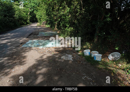 fly-tipping in Buckinghamshire - Stock Image