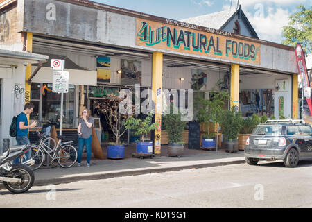 Natural Foods store in Kensington Market in downtown Toronto, Ontario, Canada - Stock Image