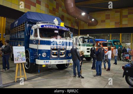 Pegaso trucks. Retro Málaga 2019. Spain. - Stock Image