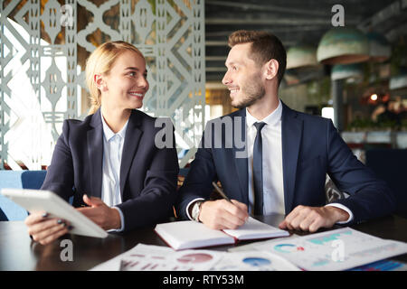 Discussing ideas for project - Stock Image