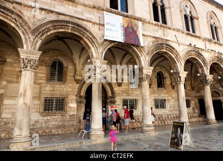 The Sponza Palace Dubrovnik - Stock Image