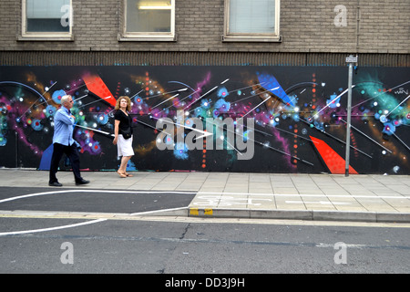 Nelson Street, Bristol See No Evil Exhibition of Street Art, Stellar 3D by Mark Lyken - Stock Image