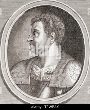 Otho, 32 - 69 AD.  Roman emperor. - Stock Image