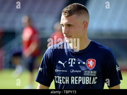 Prague, Czech Republic. 03rd June, 2019. Michal Sadilek of the Czech Republic national soccer team attends the training prior to the European Championship qualifiers with Bulgaria (Prague on June 7) and Montenegro (Olomouc, north Moravia, on June 10) in Prague, Czech Republic, June 3, 2019. Credit: Katerina Sulova/CTK Photo/Alamy Live News - Stock Image