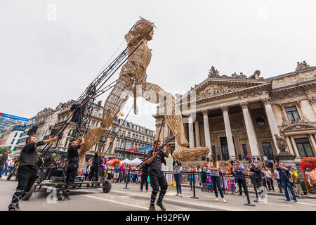 Belgien, Brüssel, Stadtzentrum, Börse, Straßenfest, Straßentheater, Theater, Event, Veranstaltung, - Stock Image