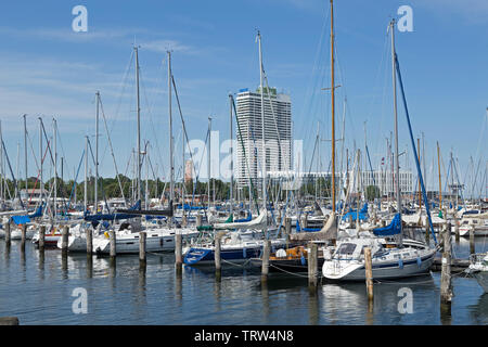 marina, Priwall, Travemuende, Schleswig-Holstein, Germany - Stock Image