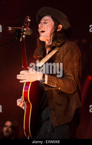 London, UK 16th July 2015. James Bay, Summer Series, Somerset House. © Robert Stainforth/Alamy - Stock Image