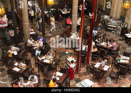 Inside restaurant, Mexico City, December 2016. - Stock Image