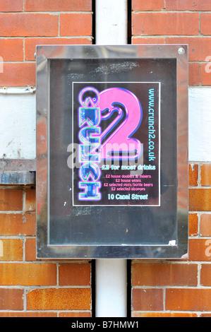 crunch 2 sign gay bar canal street manchester uk - Stock Image