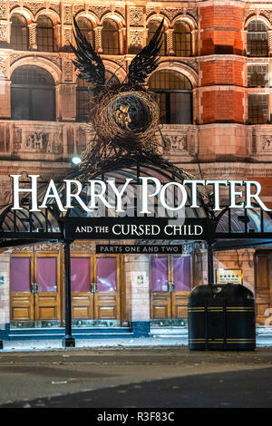 The exterior of Harry Potter Musical Theater in London, UK. - Stock Image