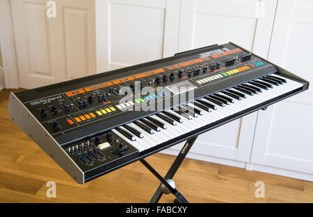 A Roland Jupiter 8 synthesizer - Stock Image