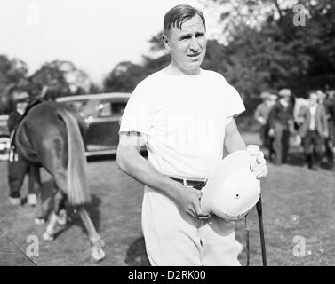 Polo Player Thomas Hitchcock Jr  starts his 28th polo season, 1939 - Stock Image
