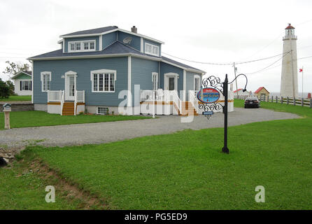 Lovely wooden house, Gaspè Quebec Canada - Stock Image