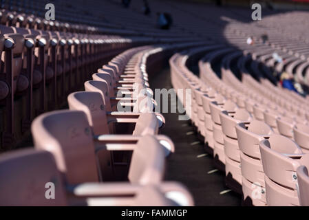 Pasadena, CA. 01st Jan, 2016. A general view of the seats during the 2016 Rose Bowl game between the Stanford Cardinal - Stock Image