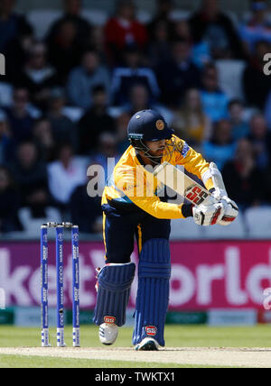 Emerald Headingley, Leeds, Yorkshire, UK. 21st June, 2019. ICC World Cup Cricket, England versus Sri Lanka; Sri Lanka batsman Kusal Mendis Credit: Action Plus Sports/Alamy Live News - Stock Image