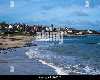 Groomsport beach and village.  A small village in Northern Ireland - Stock Image