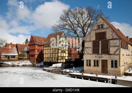 The Old Town in Aarhus, Denmark - Stock Image
