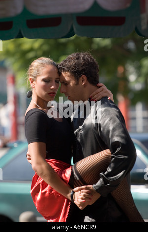 Professional tango dancers in Buenos Aires C - Stock Image