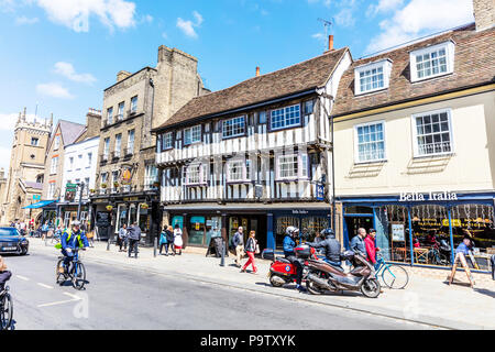 Bridge House, a medieval tudor building on Bridge St, Cambridge UK, Bridge House Cambridge, Cambridge history, historical, tudor buildings, UK, - Stock Image