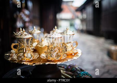 Souvenirs for sale on the street in Old Town of Sarajevo, Bosnia and Herzegovina - Stock Image