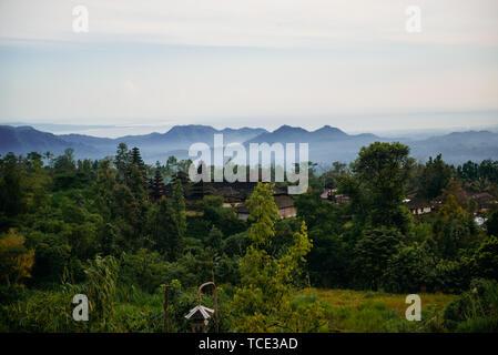 Mountain landscape view, Bali, Indonesia - Stock Image