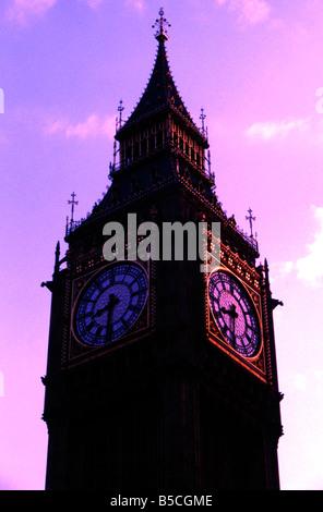 Ben Big Britain capital clock destination England Europe famous historic history Houses landmark London monument - Stock Image