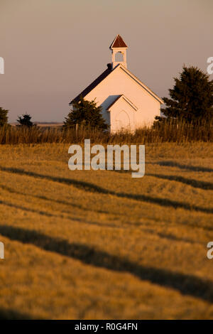 Old Country Church in Saskatchewan Canada Scenic - Stock Image