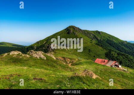 Beautiful mountain view from the path to Eho hut in Central Balkan national park, Old mountain, Bulgaria. - Stock Image