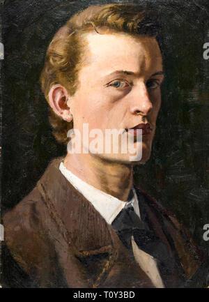 Edvard Munch, Self Portrait, 1882 - Stock Image