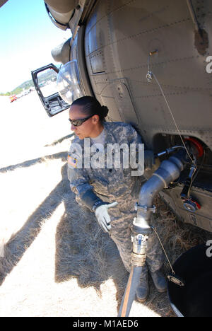 California National Guard aviators and emergency-response personnel joined the Mendocino Sheriff Office's Remote - Stock Image