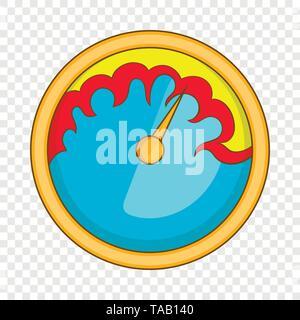 Exclusive speedometer icon, cartoon style - Stock Image