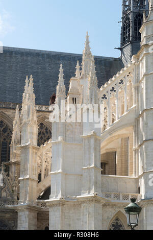 Flying buttresses on Orléans cathedral, Centre-Val de Loire, France, Europe - Stock Image