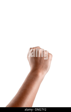 close view of human hand - Stock Image