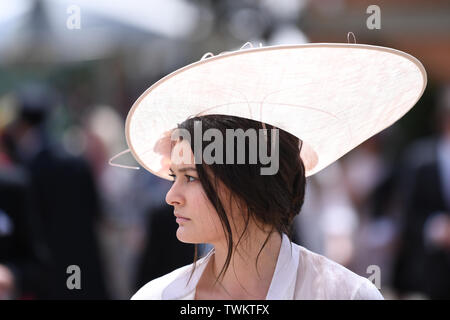Ascot Racecourse, Berkshire, UK. 21st June, 2019. Royal Ascot Horse racing; Fabulous hats of Royal Ascot Credit: Action Plus Sports/Alamy Live News - Stock Image