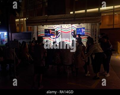 Karaoke on the Esplanade, Singapore, Asia - Stock Image