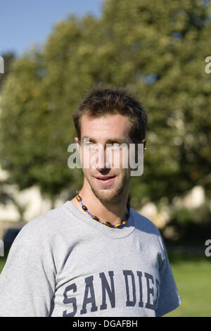 Young Caucasian man at Duboce Park, San Francisco, California, USA. - Stock Image