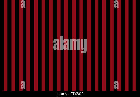 Pattern of vertical, same size black and red stripes with copy space, ideas for background, hotel wallpaper or  boudoir backdrop - Stock Image
