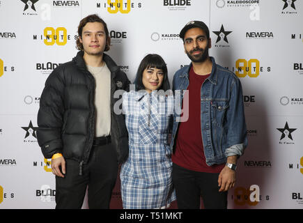 '90 Minutes' Launch Event hosted by executive producer Rio Ferdinand and director Simon Baker to celebrate the digital download and DVD release on 1 April  Featuring: Robert Ristic, Peyvand Sadeghian, Waleed Akhtar Where: London, United Kingdom When: 19 Mar 2019 Credit: PinPep/WENN.com - Stock Image